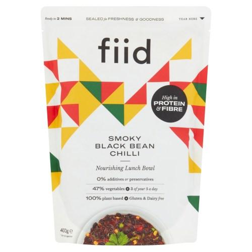 Fiid Smoky Black Bean Chilli (400g) - Vegan Based Gluten Free Dairy Free