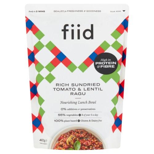Fiid Rich Sundried Tomato & Lentil Ragu (400g) - Vegan Gluten Free Dairy Free