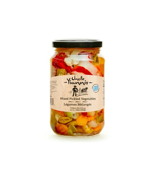 Mixed Pickled Vegetables Uncle Yiannis 720ml