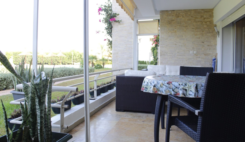 à 25 MN du Morocco Mall grand meublé 88M2 avec  jardin piscine