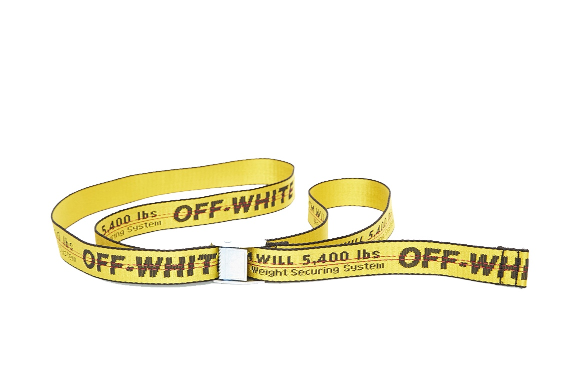 The OFF-WHITE Industrial Belt is coming back in 14 new colors