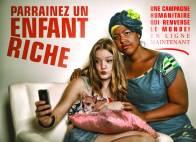 Design web et logo du Parrainez un enfant riche / Tapis rouge Films