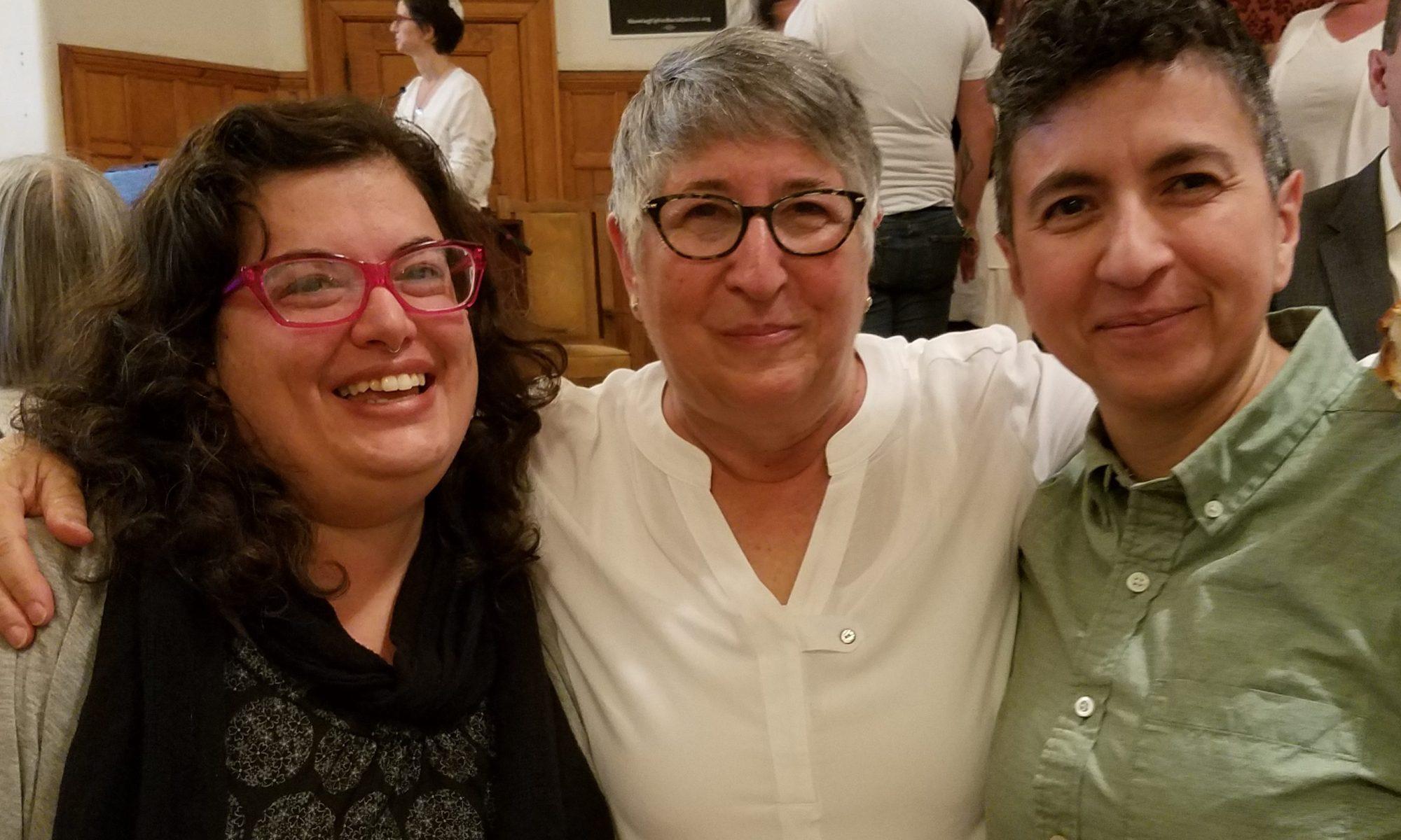 Dana, Rabbi Ellen Lippmann and Kathleen YK 5778