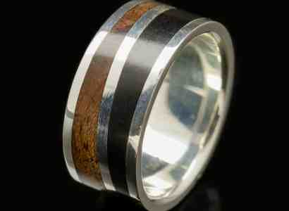 Silver Wood Ring-r281