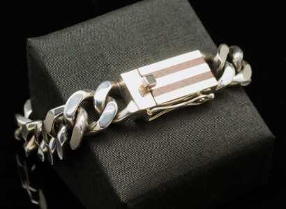 Silver Wood Bracelet-br105