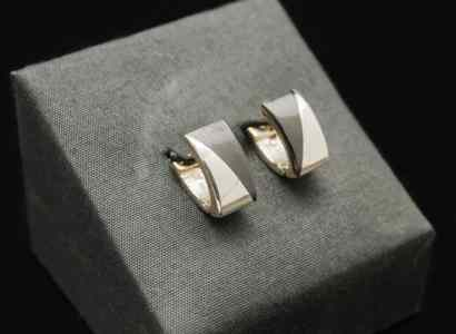 Silver Wood Earrings-er99
