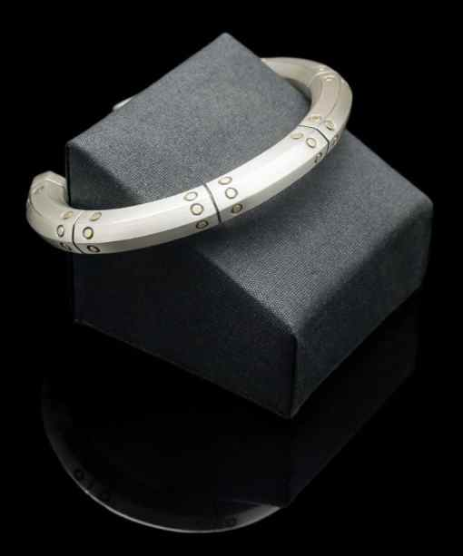 18k yellow Gold with Sterling Silver Bracelet (BR116)