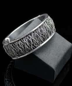Sterling Silver Oval Nova design Bracelet (BR47oval)