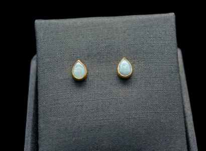 Natural Opal Earrings with 18k Gold and Sterling Silver (ER70)