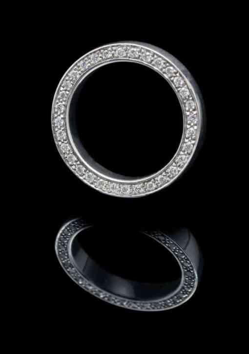 18K White Gold Rings with Diamond (GR81)