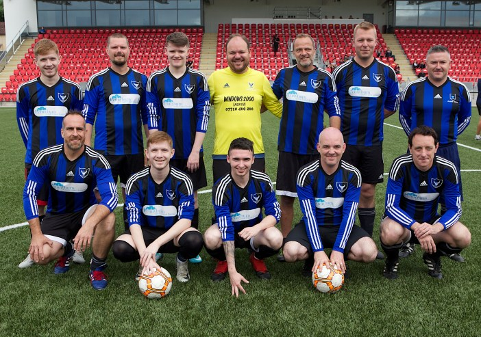 Foyle Cup Coaches XI. Credit: Tom Heaney / nwpresspics