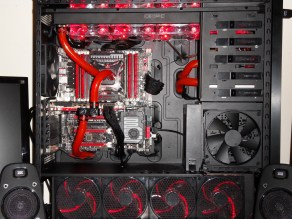 PC Gamer Watercooling rouge