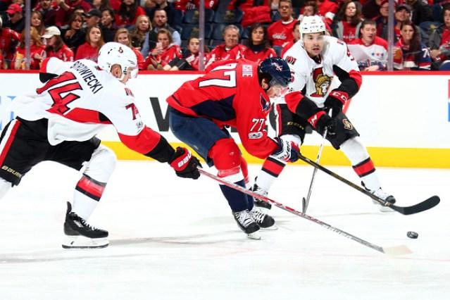 Ottawa Senators against the Washington Capitals