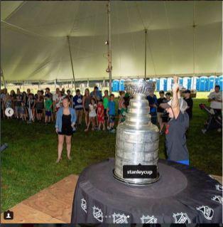 NHL Lucan Fans Lined up Inside