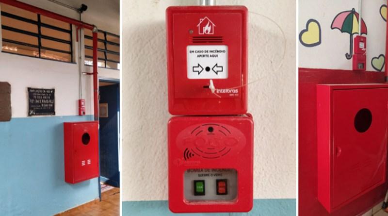 Prefeitura de Orlândia inicia instalação de equipamentos de combate e prevenção a Incêndio nas Escolas Municipais