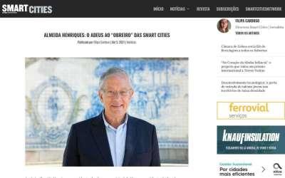 """ALMEIDA HENRIQUES: O ADEUS AO """"OBREIRO"""" DAS SMART CITIES"""