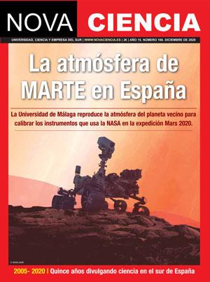 Portada de Nova Ciencia diciembre-enero 2021. Marte en la Costa del Sol.