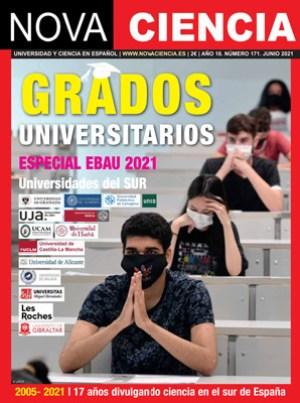 Portada de Nova Ciencia junio 2021. Especial de títulos de grado.