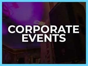Corporate disc jockey hire