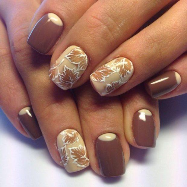 дизайн ногтей коричневый цвет фото 7