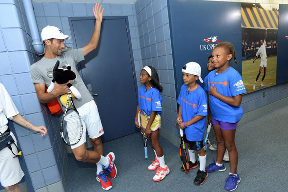 Nole takes part in 20th Annual Arthur Ashe Kids' Day