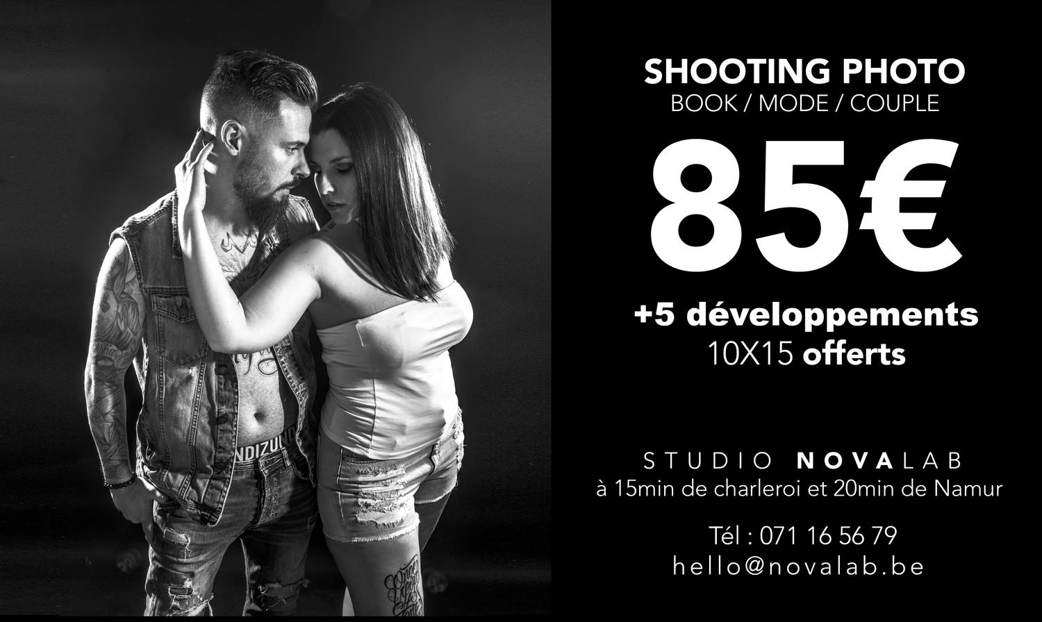 shooting photo portrait studio couple