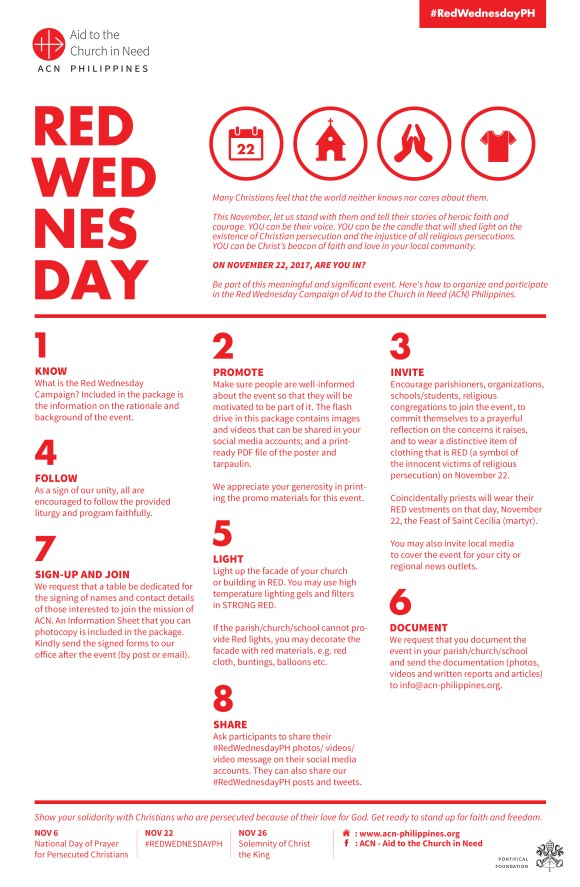 Guidelines on How to Celebrate Red Wednesday