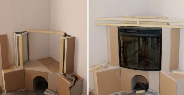 Corner False Fireplace Forens.