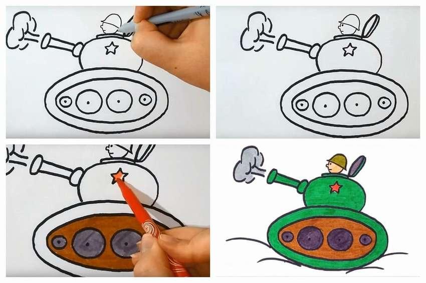 Desenele pentru copii ale rezervoarelor