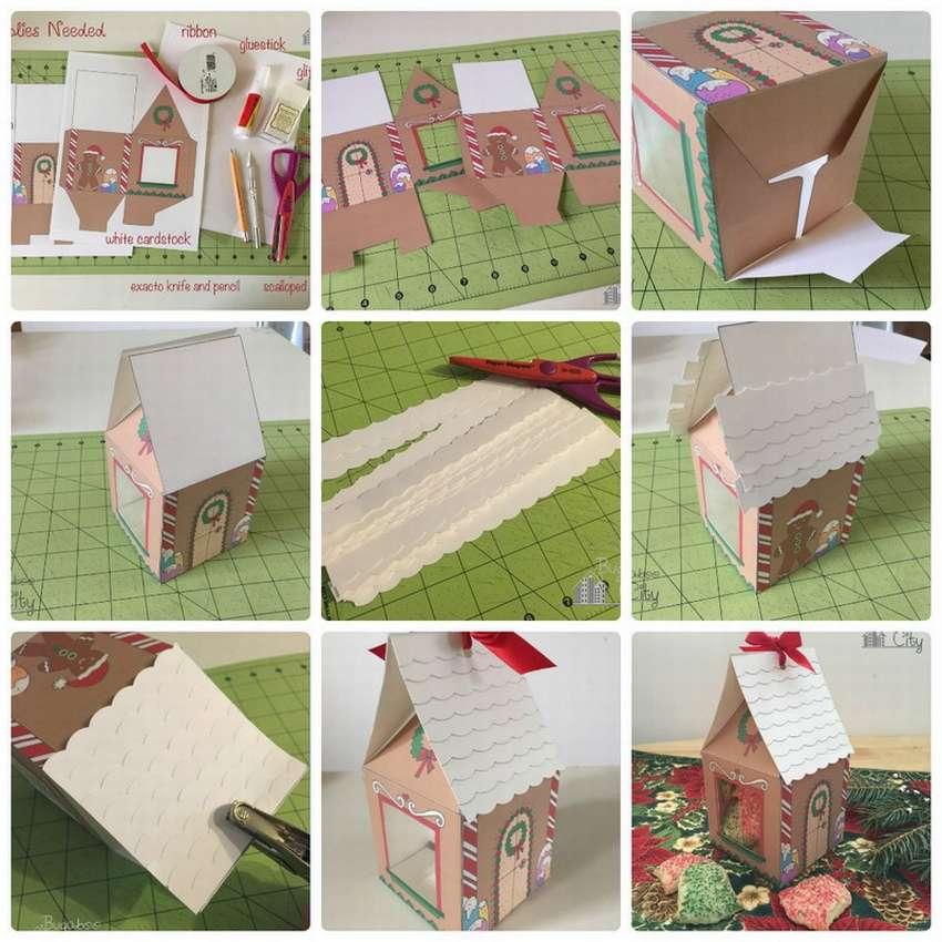 пряничный домик из бумаги