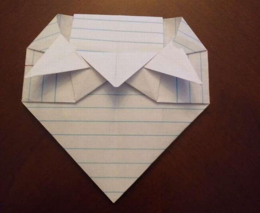 Әдемі оригами конверті