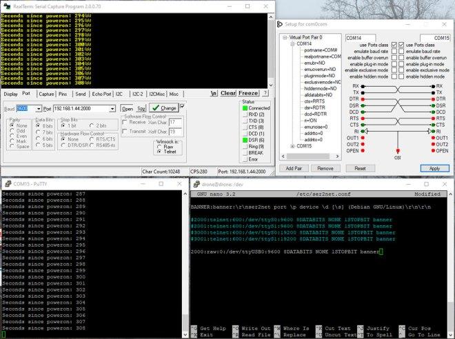 com0com and RealTerm combined - Port Tab Configuration
