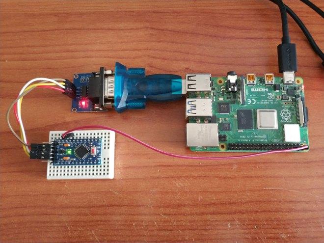 Arduino to Raspberry PI using RS232
