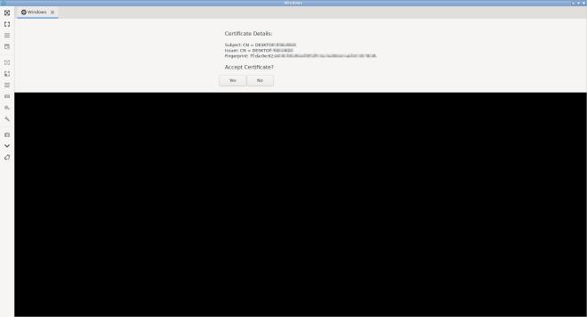 Remmina Windows 10 Certificate
