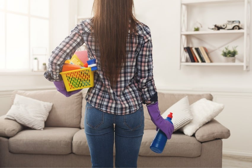 cleaning schedule at home