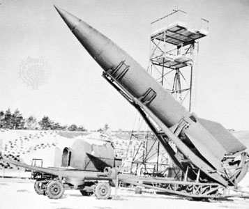 German V-2 rocket; Britannica.com