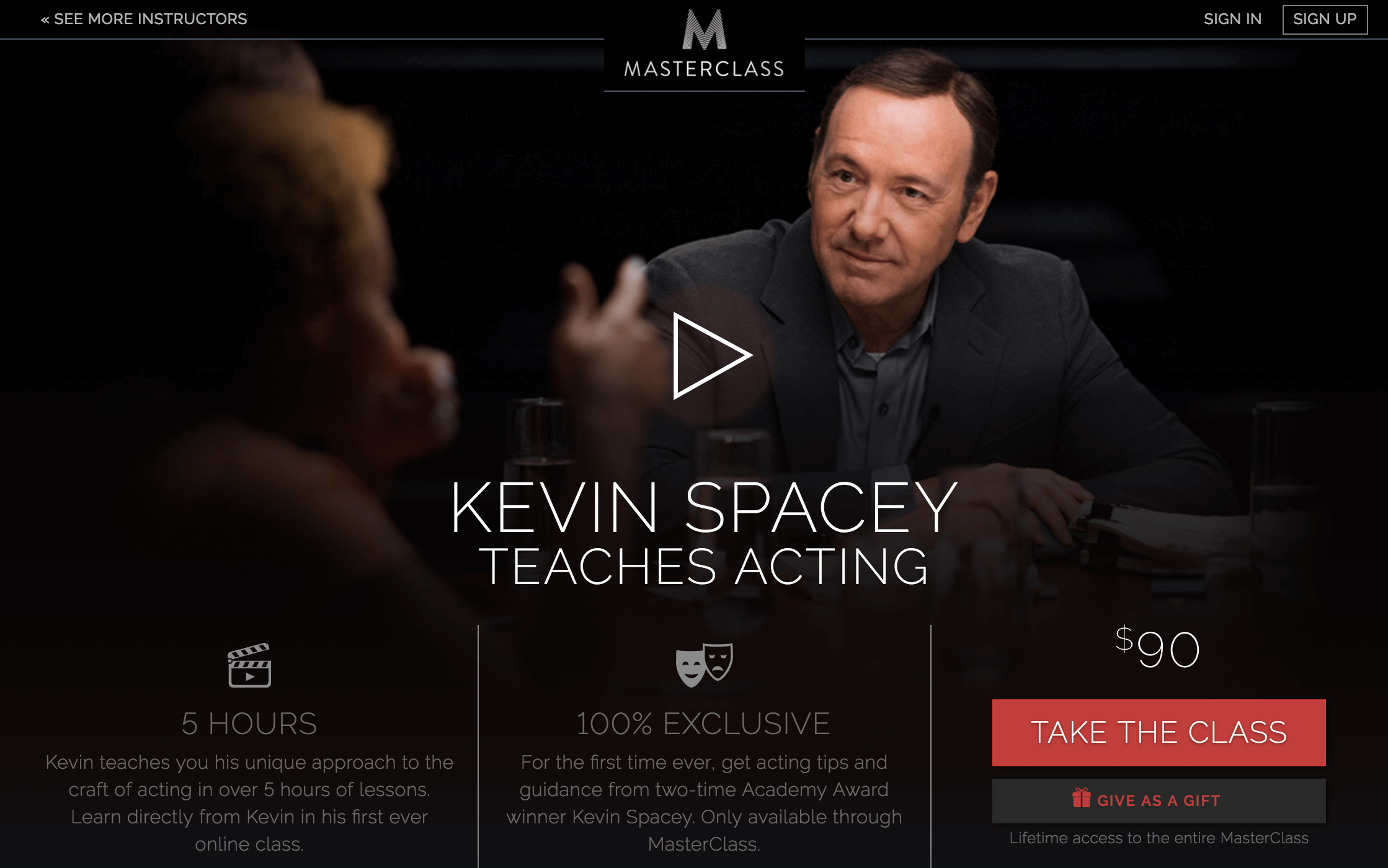 kevin spacey teach