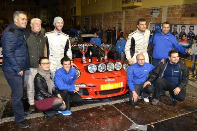 El equipo vencedor del Rallye Valle del Almanzora.