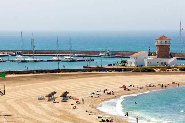 Playa de Almerimar.