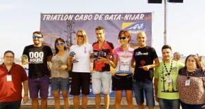 Ganadores del Triatlón de Cabo de Gata en 2016.