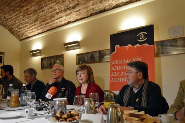 La Asociación de Amigos de la Alcazaba en la presentación de los Premios.