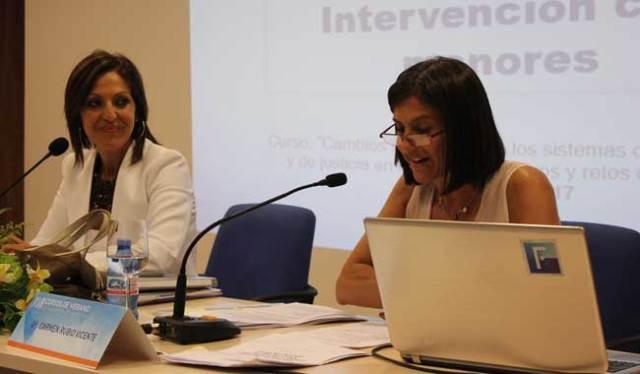 Carmen Rubio en su intervención.
