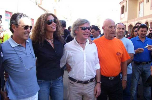 Visita de Ángel Nieto a Roquetas en el año 2006.