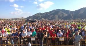 Manifestación de agricultures pidiendo agua a un precio justo en el Levante.