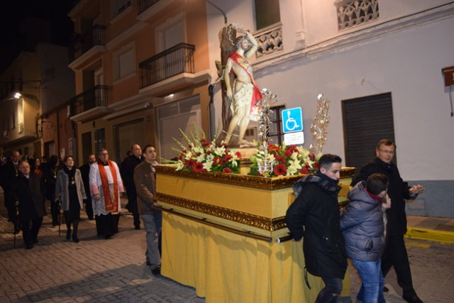 Procesión de San  Sebastián por las calles de Gádor.