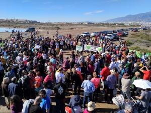 Concentración en defensa de las Salinas y la Ribera de la Algaida el pasado 21 de enero