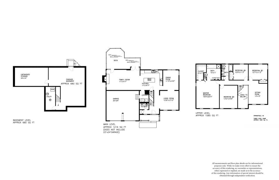 Professional Floor Plans, Fairfax County