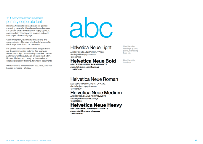 Corporate brand elements primary corporate font
