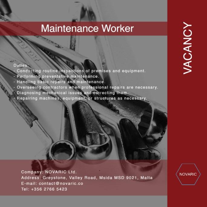 Maintenance Worker 1 1