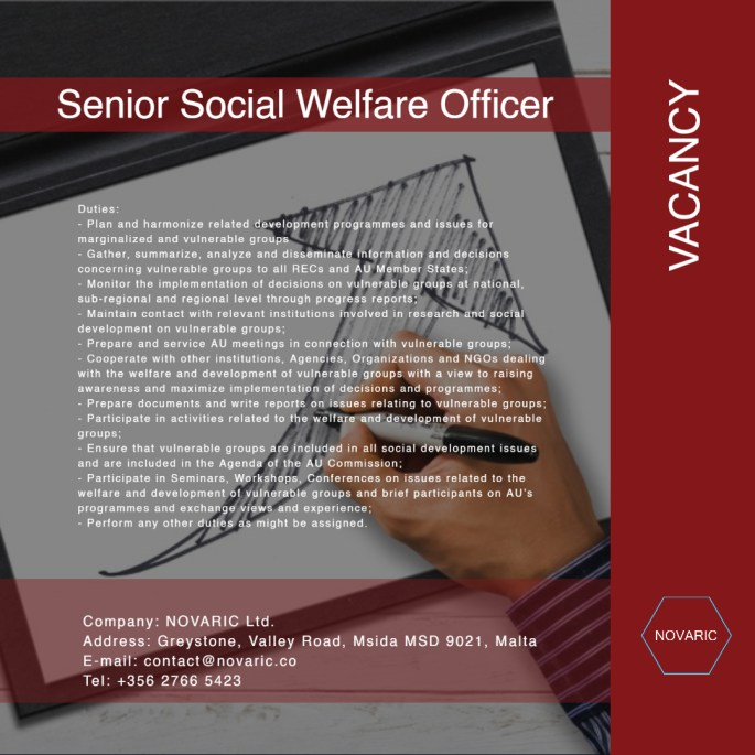 Senior Social Welfare Officer